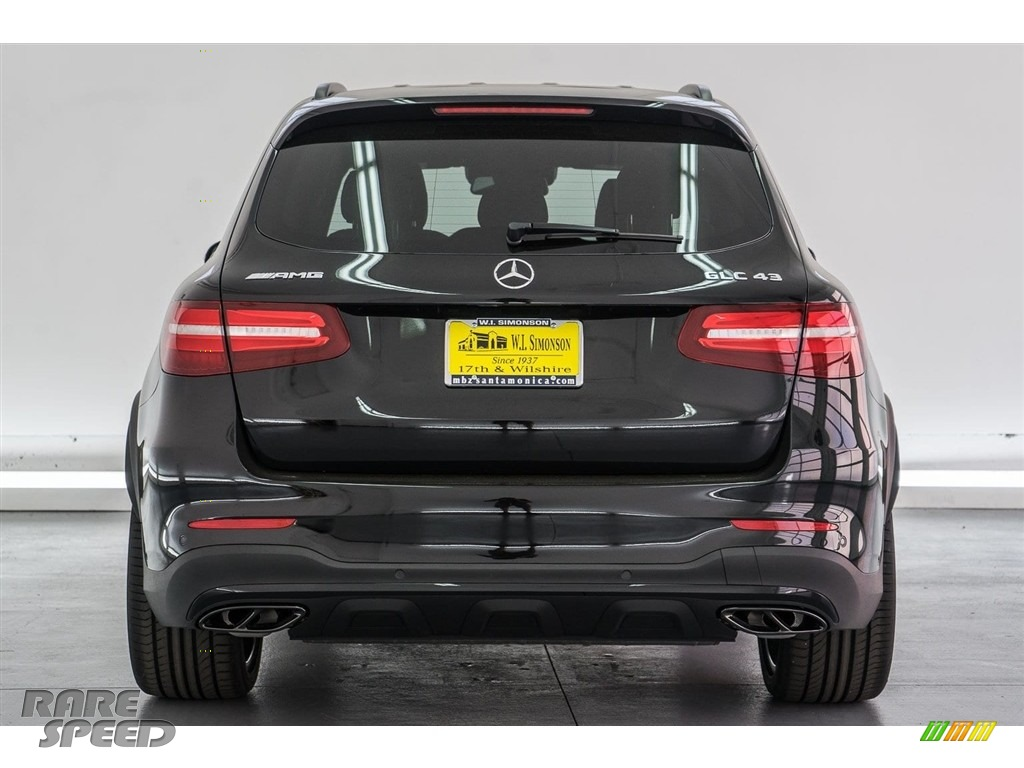 2018 GLC AMG 43 4Matic - Obsidian Black Metallic / designo Black photo #4