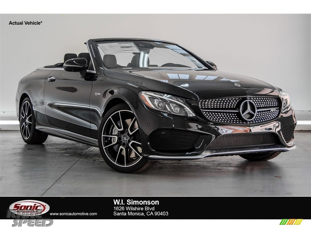 2018 C 43 AMG 4Matic Cabriolet - Obsidian Black Metallic / Black photo #1