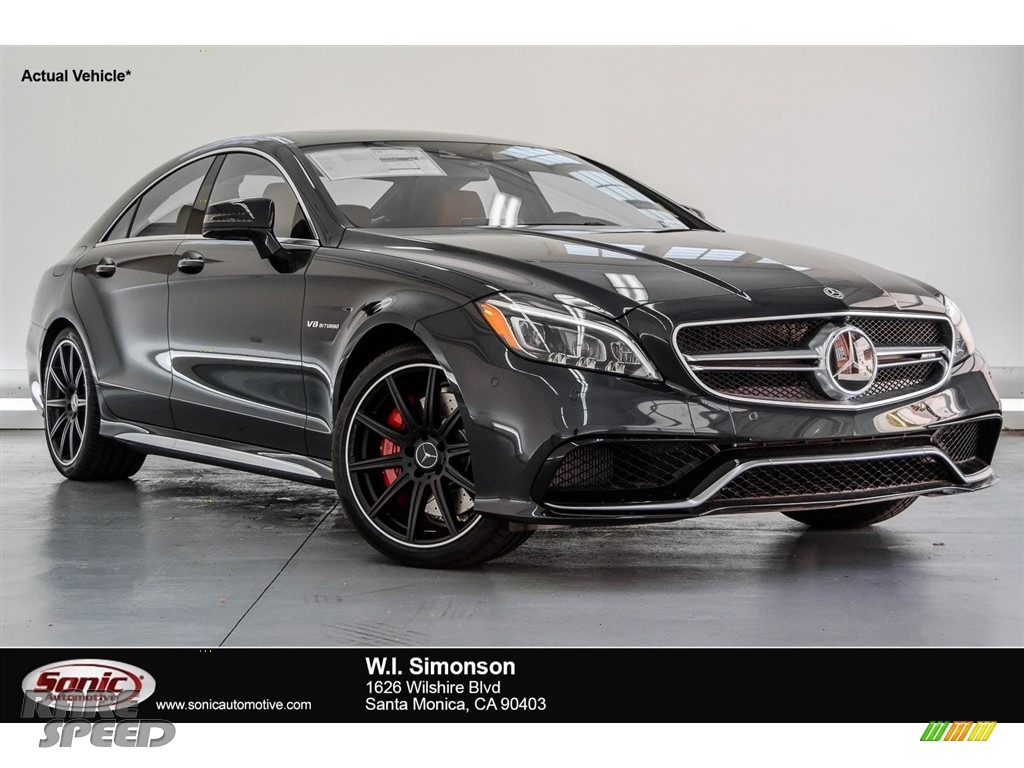 2018 CLS AMG 63 S 4Matic Coupe - Obsidian Black Metallic / designo Classic Red/Black photo #1