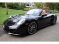 Porsche 911 Turbo S Cabriolet Basalt Black Metallic photo #1