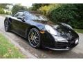 Porsche 911 Turbo S Cabriolet Basalt Black Metallic photo #8