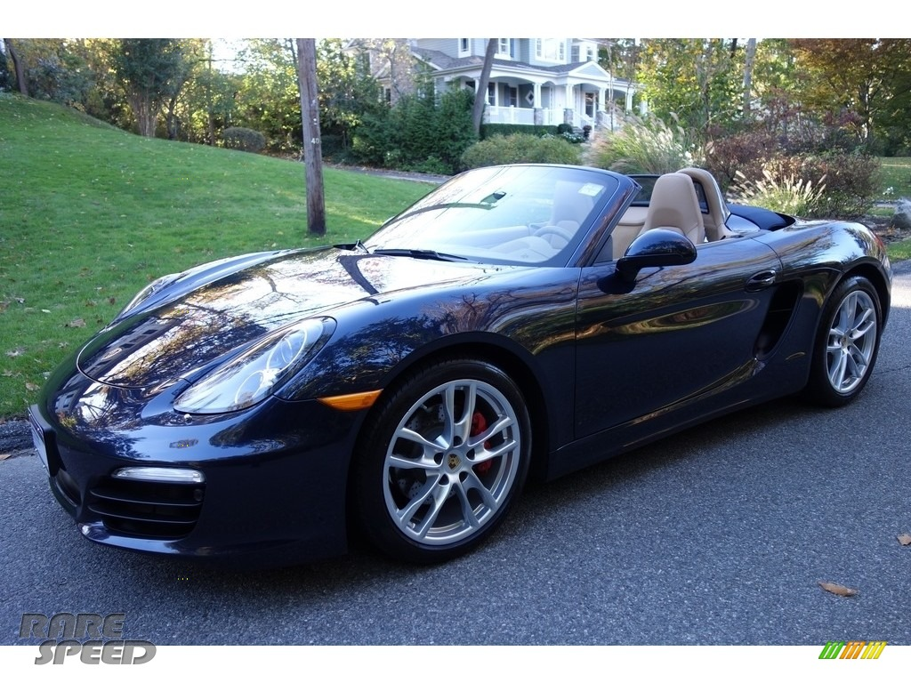 2016 Boxster S - Dark Blue Metallic / Luxor Beige photo #1