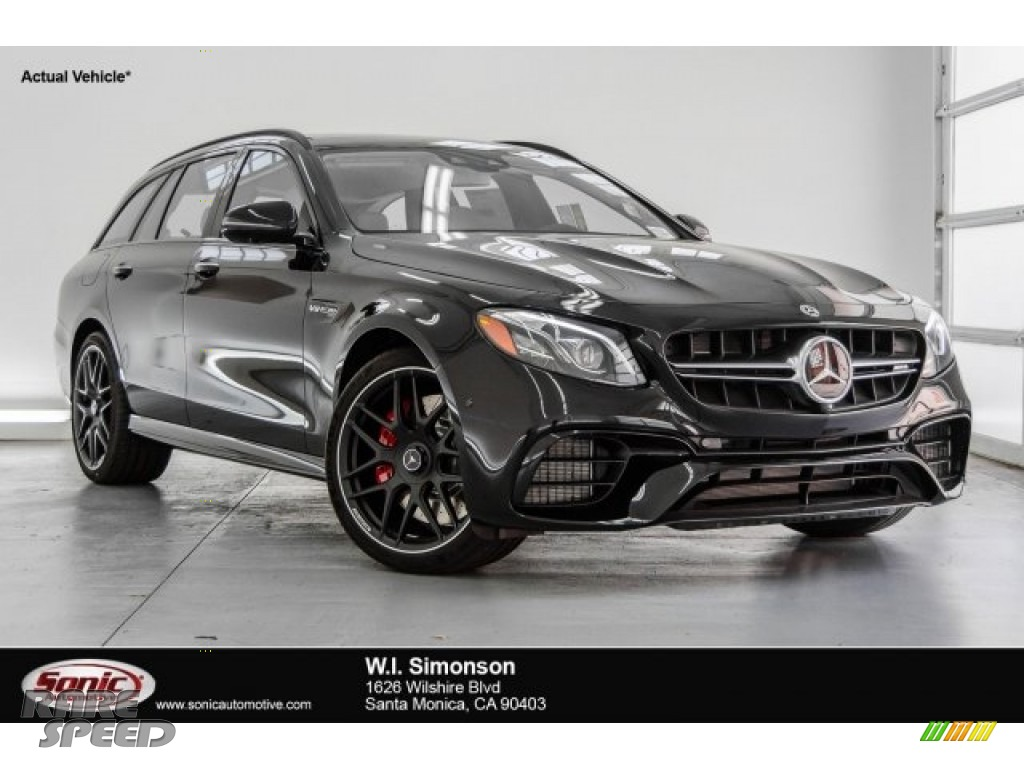 2018 E AMG 63 S 4Matic Wagon - Black / Macchiato Beige/Black photo #1