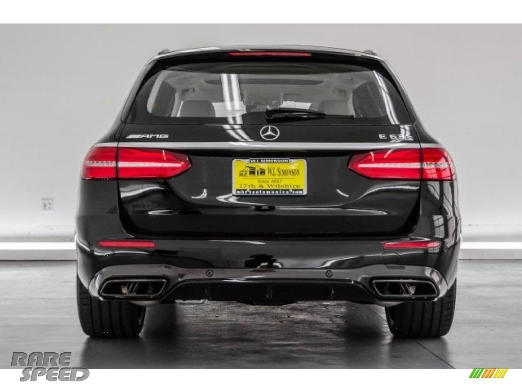 2018 E AMG 63 S 4Matic Wagon - Black / Macchiato Beige/Black photo #3