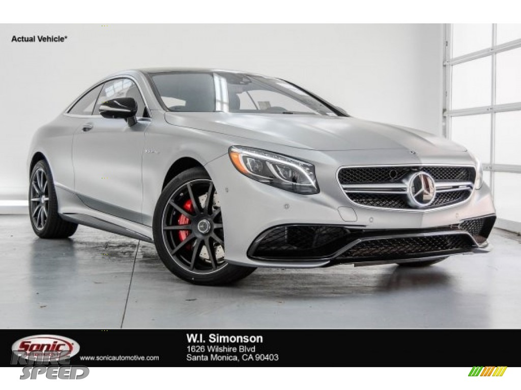 2017 S 63 AMG 4Matic Coupe - designo Alanite Grey Magno (Matte) / designo Black photo #1
