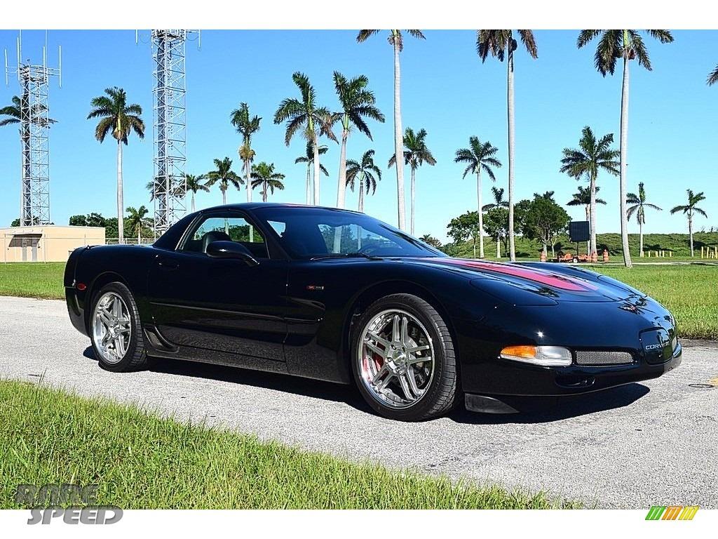 2002 Corvette Z06 - Black / Black photo #2