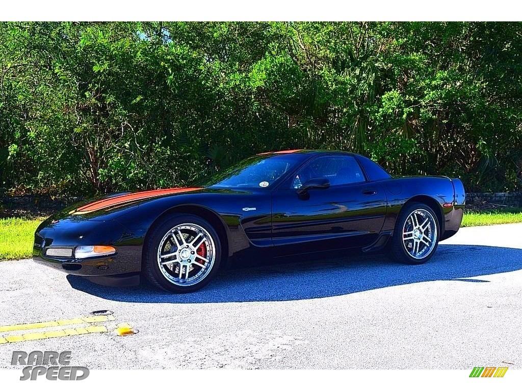 2002 Corvette Z06 - Black / Black photo #3