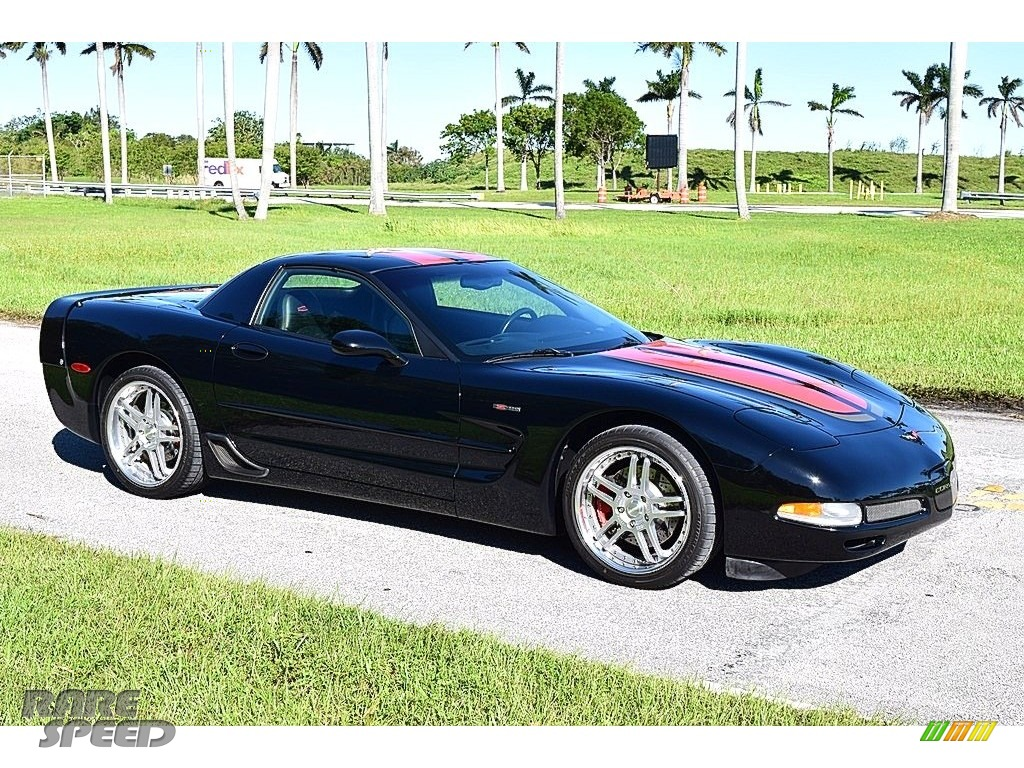 2002 Corvette Z06 - Black / Black photo #12