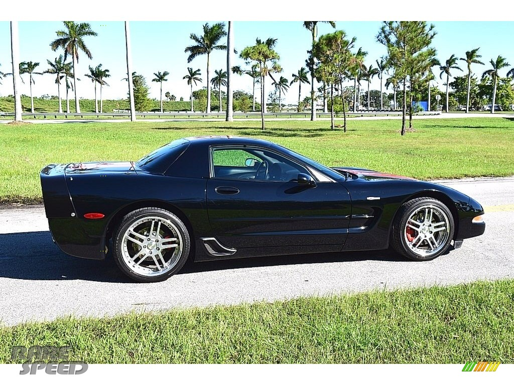 2002 Corvette Z06 - Black / Black photo #13