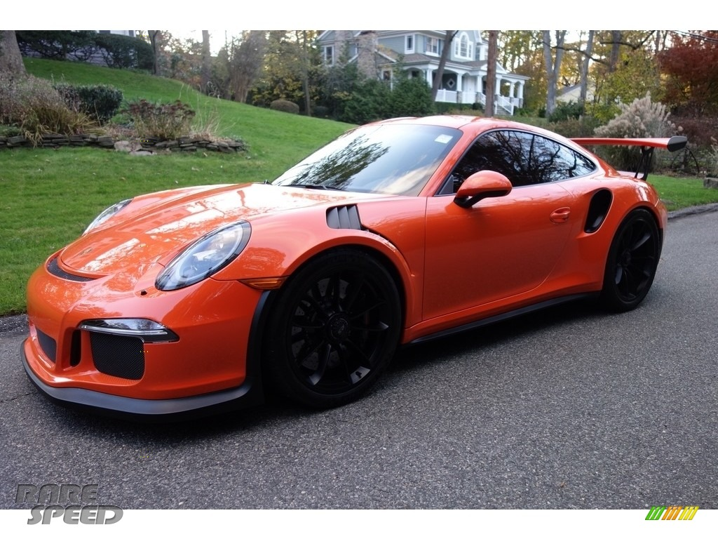 2016 911 GT3 RS - Gulf Orange, Paint to Sample / Black/Lava Orange photo #1