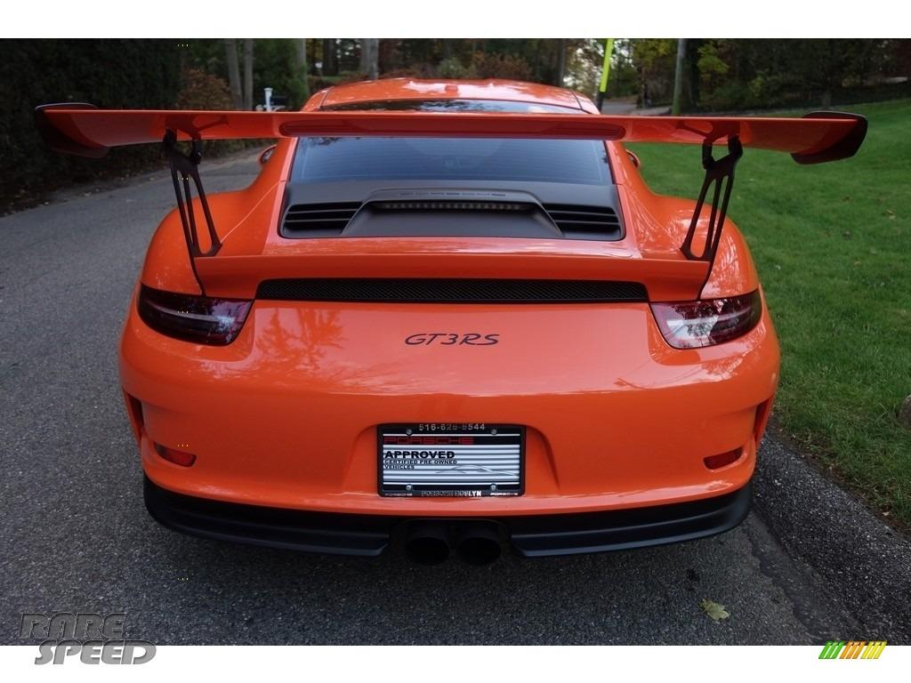 2016 911 GT3 RS - Gulf Orange, Paint to Sample / Black/Lava Orange photo #5