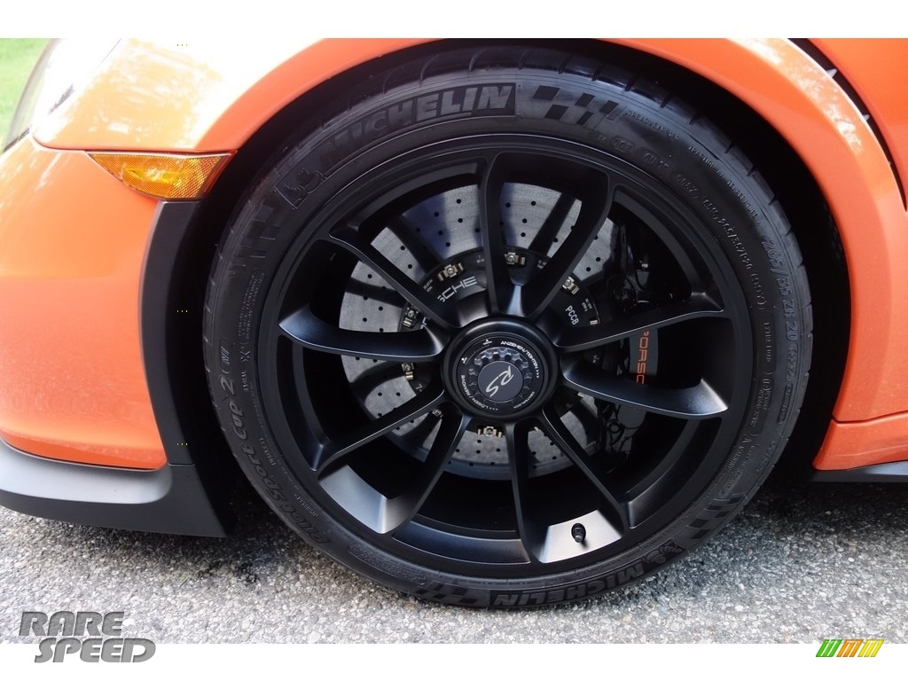 2016 911 GT3 RS - Gulf Orange, Paint to Sample / Black/Lava Orange photo #9
