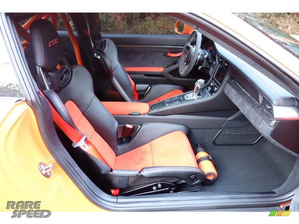 2016 911 GT3 RS - Gulf Orange, Paint to Sample / Black/Lava Orange photo #16