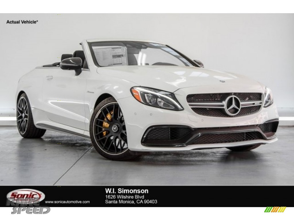 2017 C 63 AMG S Cabriolet - Polar White / Black photo #1