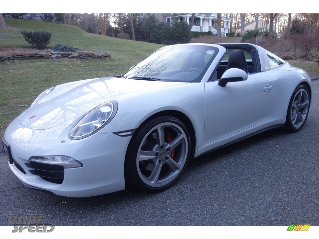 2014 911 Targa 4S - White / Black photo #1