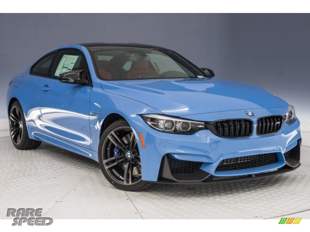 2018 M4 Coupe - Yas Marina Blue Metallic / Sakhir Orange/Black photo #11