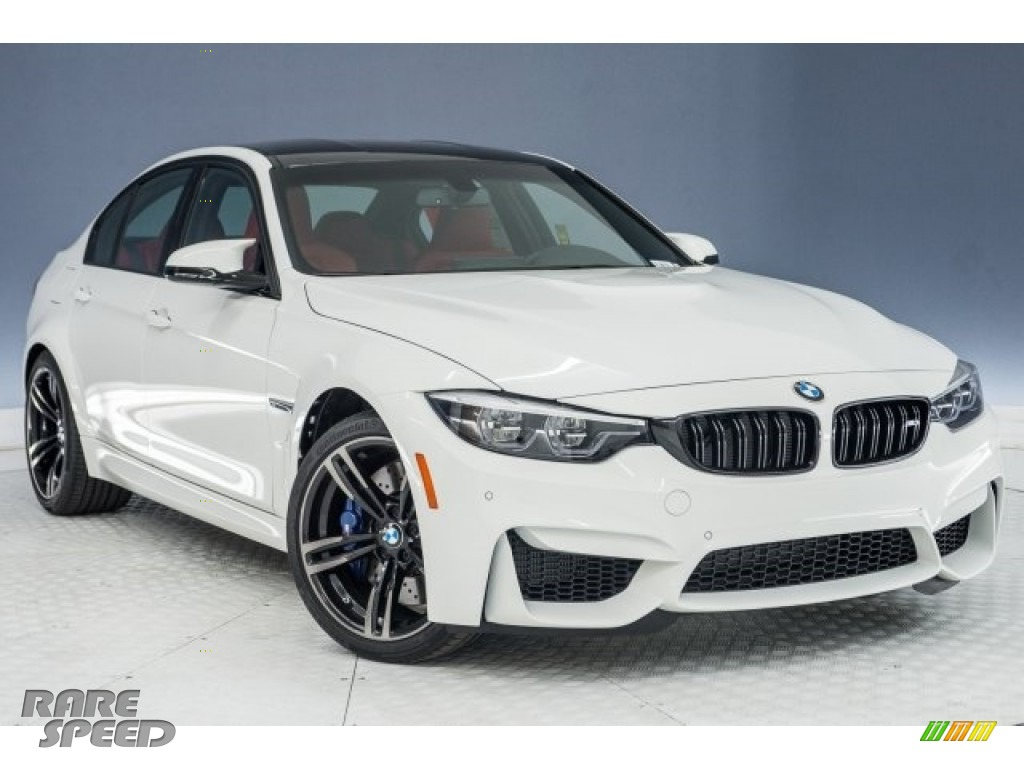 2018 M3 Sedan - Alpine White / Sakhir Orange/Black photo #11