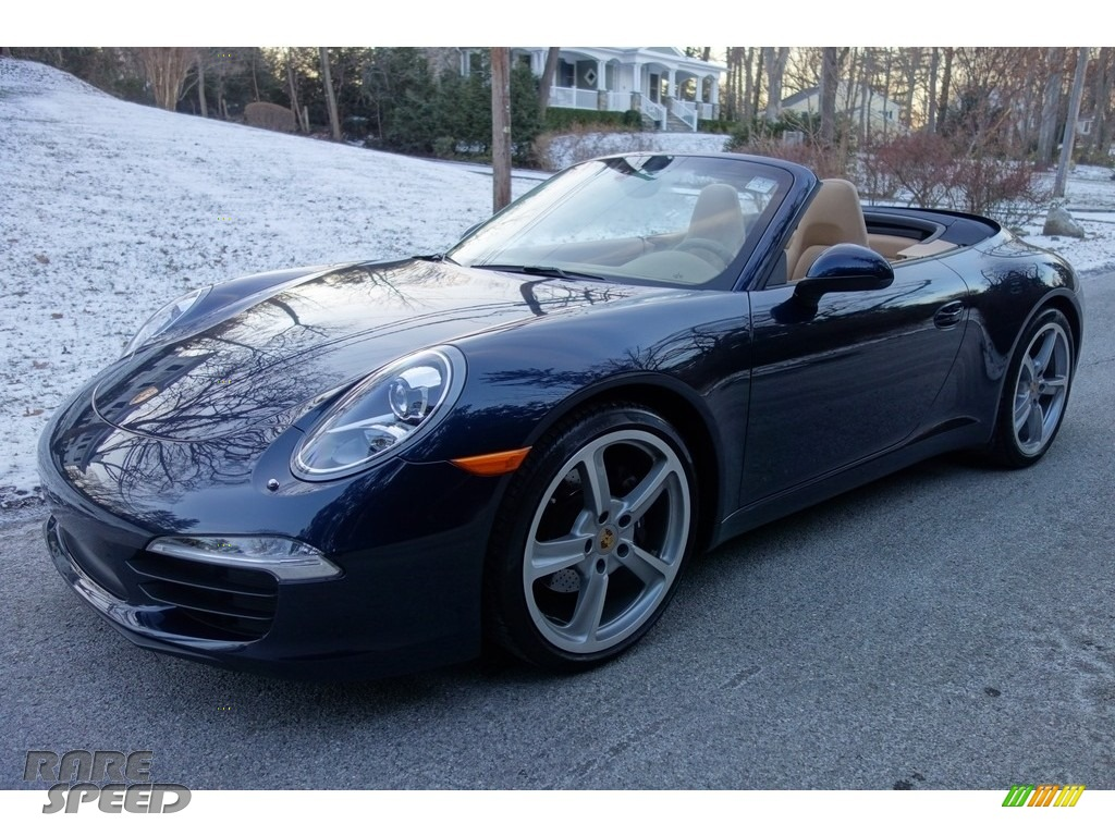 2015 911 Carrera Cabriolet - Dark Blue Metallic / Luxor Beige photo #1