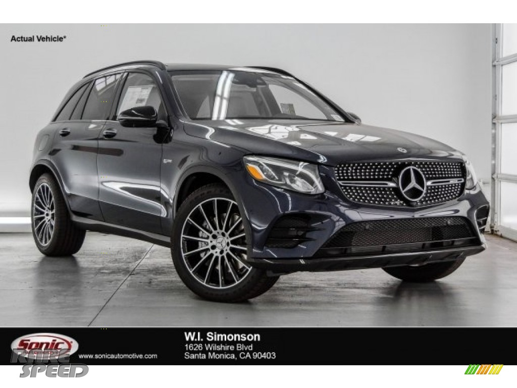 2018 GLC AMG 43 4Matic - Lunar Blue Metallic / Silk Beige/Espresso Brown photo #1