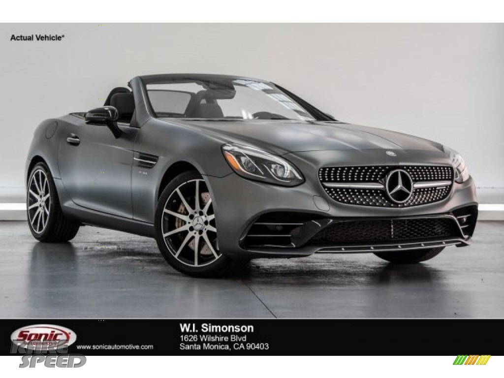 2017 SLC 43 AMG Roadster - designo Magno Shadow Grey (Matte) / Black photo #1