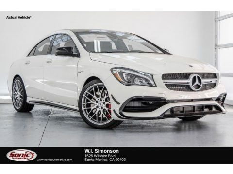 Cirrus White 2018 Mercedes-Benz CLA AMG 45 Coupe