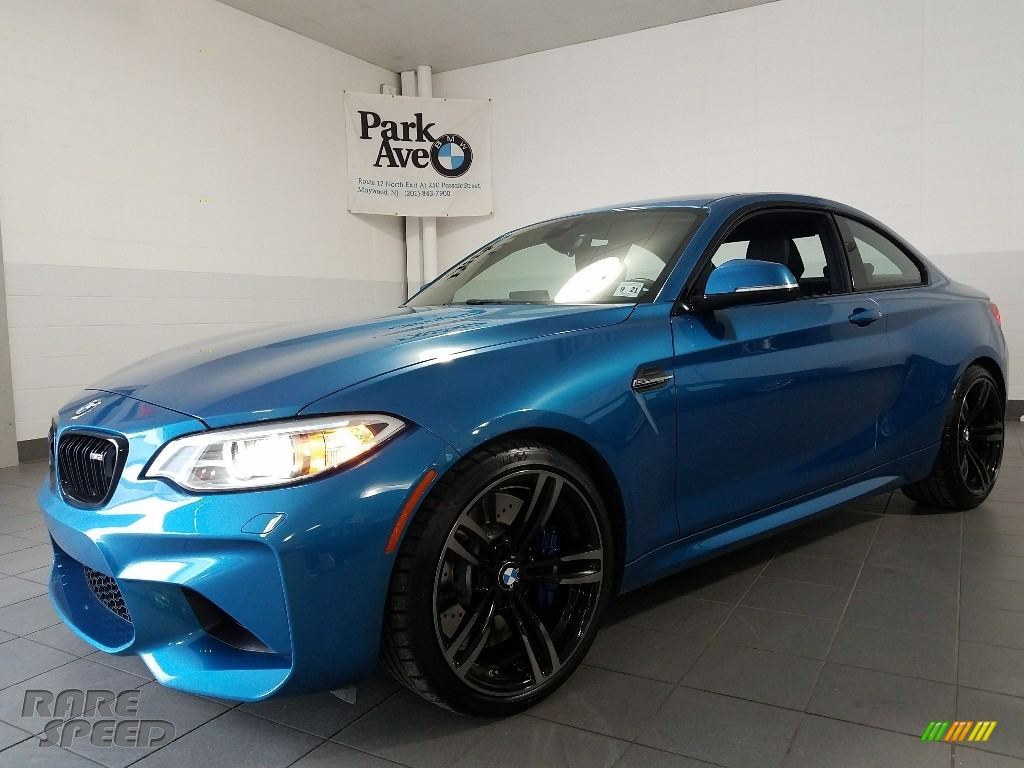 Long Beach Blue Metallic / Dakota Black/Blue Highlight BMW M2 Coupe