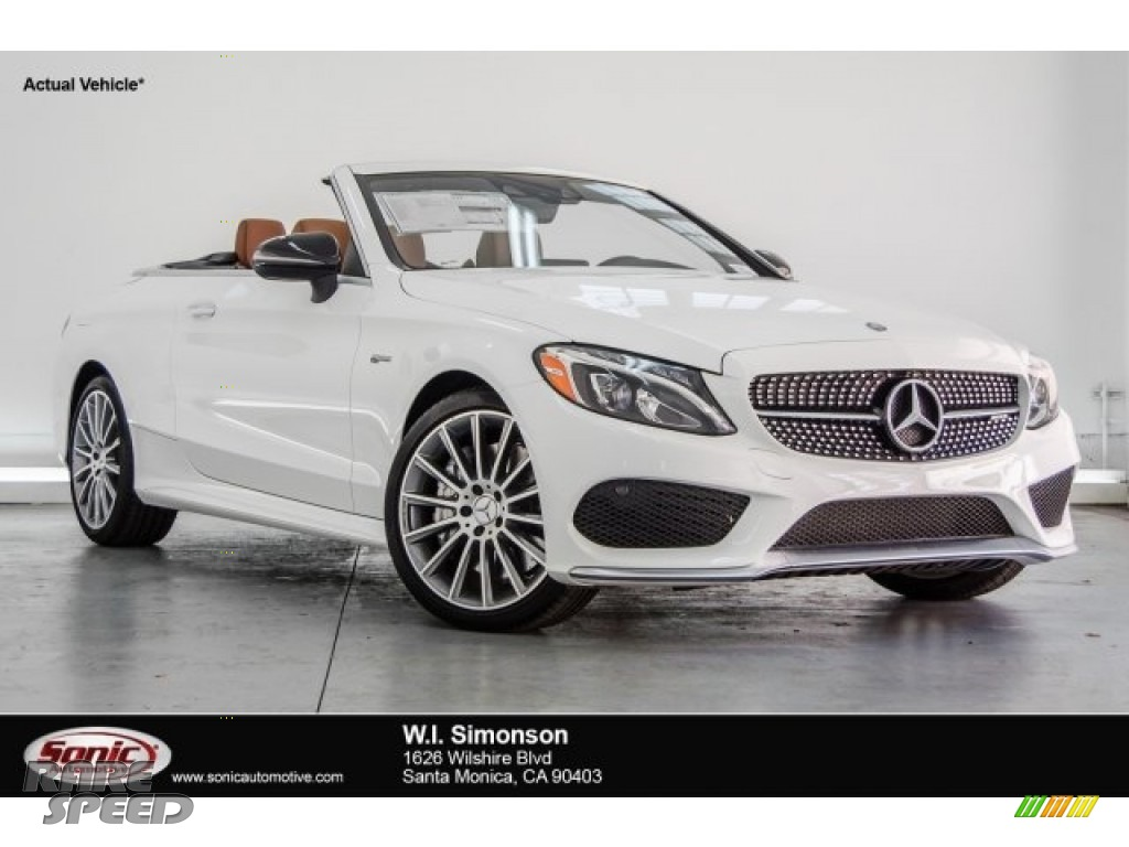 2017 C 43 AMG 4Matic Cabriolet - Polar White / Saddle Brown/Black photo #1