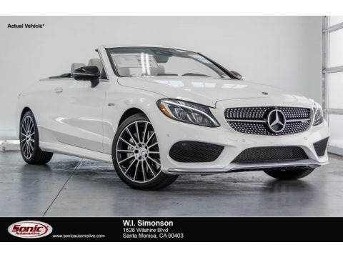 designo Diamond White Metallic 2018 Mercedes-Benz C 43 AMG 4Matic Cabriolet