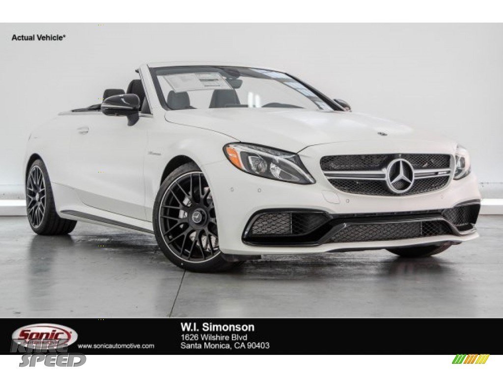 2018 C 63 AMG Cabriolet - designo Diamond White Metallic / Red Pepper/Black photo #1