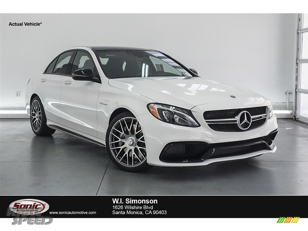 2018 C 63 AMG Sedan - Polar White / Black photo #1