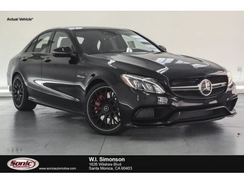 Black 2018 Mercedes-Benz C 63 S AMG Sedan
