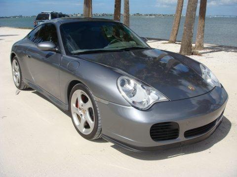 Seal Grey Metallic 2003 Porsche 911 Carrera 4S Coupe