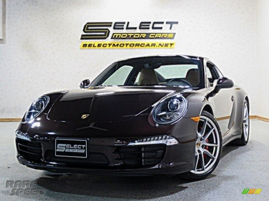 2014 911 Carrera 4S Coupe - Mahogany Metallic / Luxor Beige photo #1
