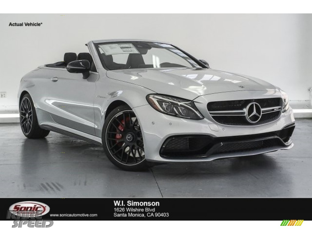 2018 C 63 S AMG Cabriolet - Iridium Silver Metallic / Red Pepper/Black photo #1