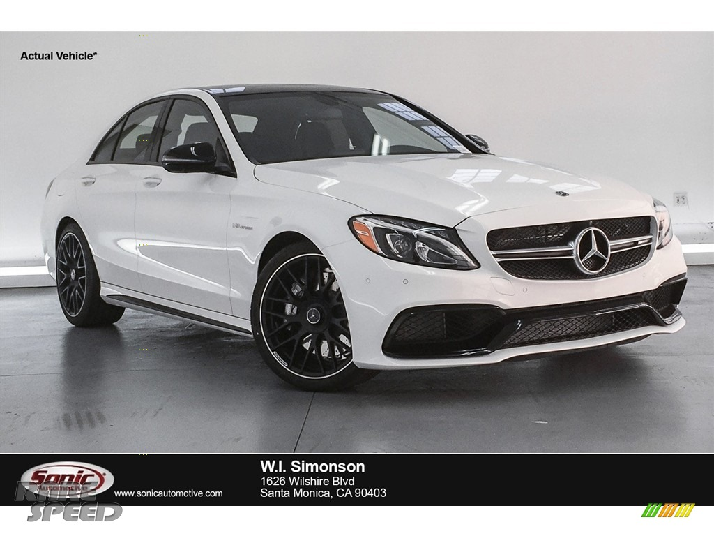 Polar White / Black Mercedes-Benz C 63 AMG Sedan