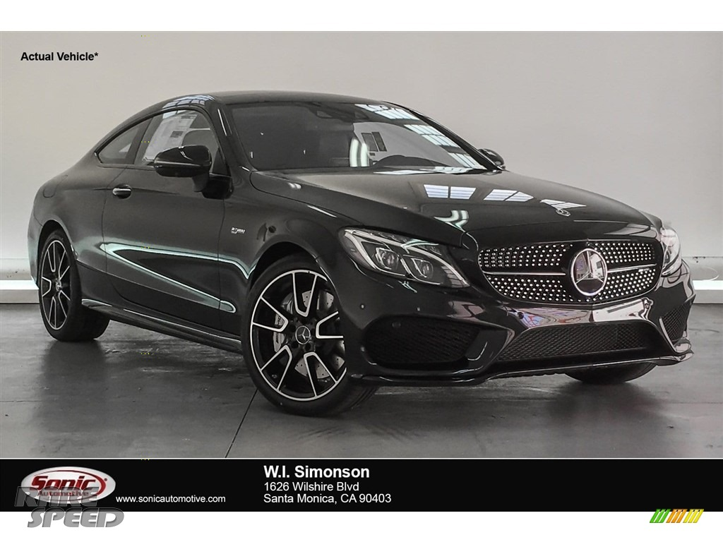 2018 C 43 AMG 4Matic Coupe - Obsidian Black Metallic / Black photo #1