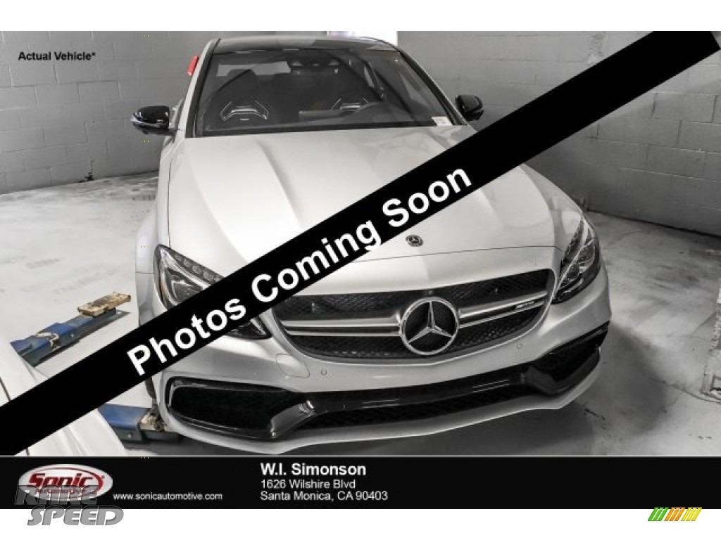 2018 C 63 AMG Sedan - Iridium Silver Metallic / Red Pepper/Black photo #1