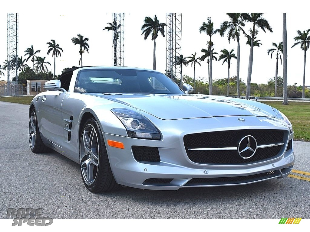2012 SLS AMG Roadster - Iridium Silver Metallic / designo Light Brown Natural Woven photo #1