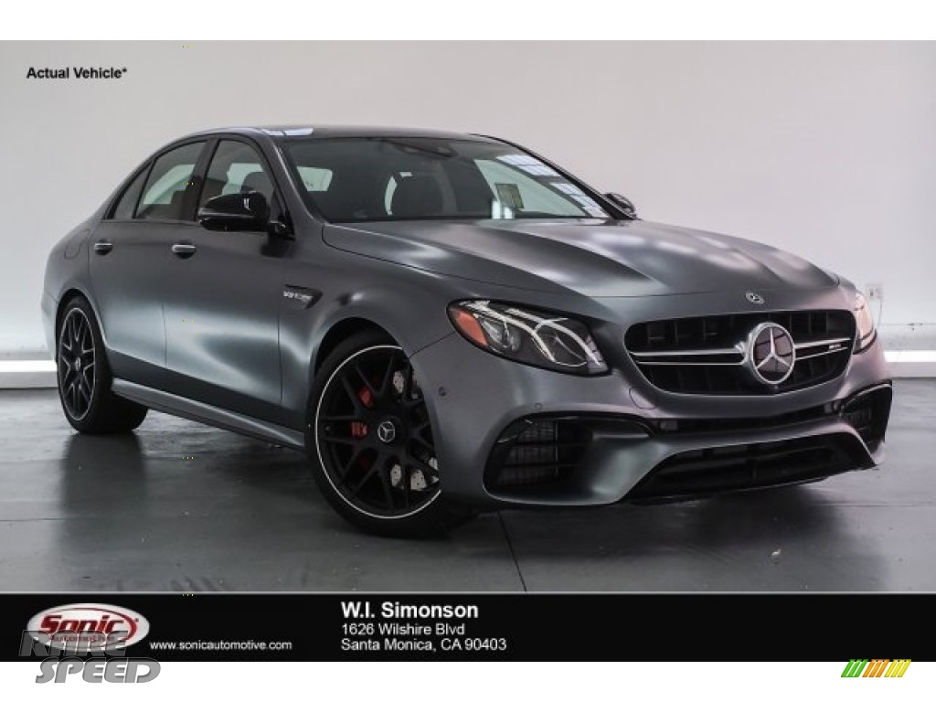 2018 E AMG 63 S 4Matic - designo Selenite Grey Magno (Matte) / Black photo #1