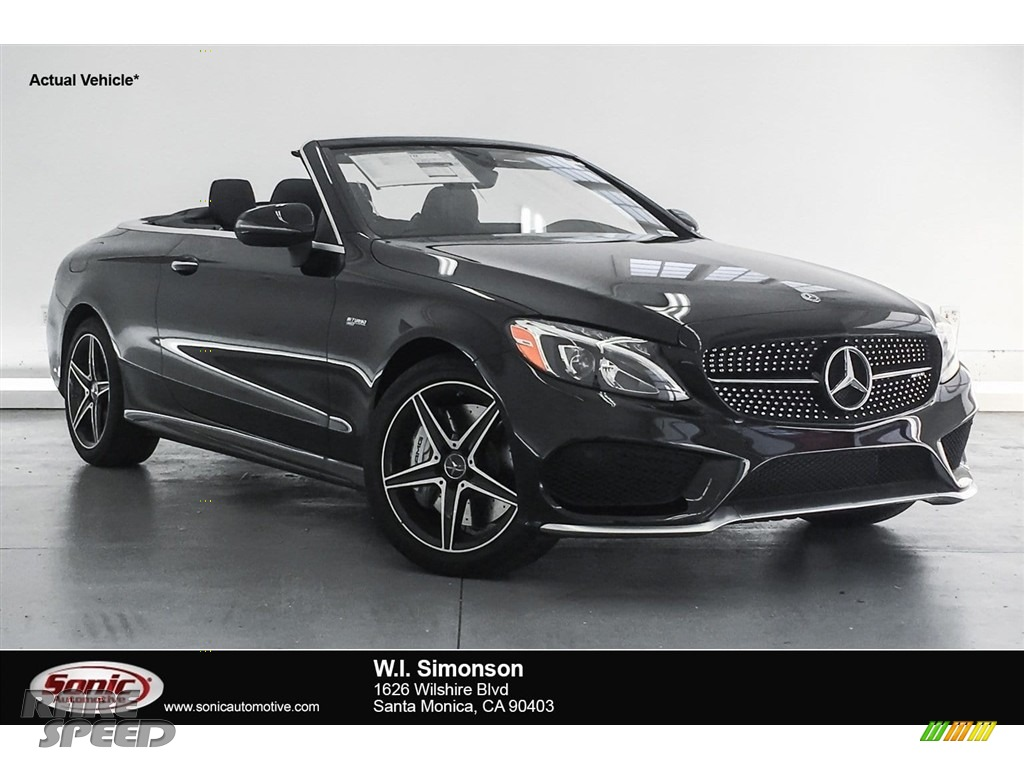 2018 C 43 AMG 4Matic Cabriolet - Black / Black photo #1