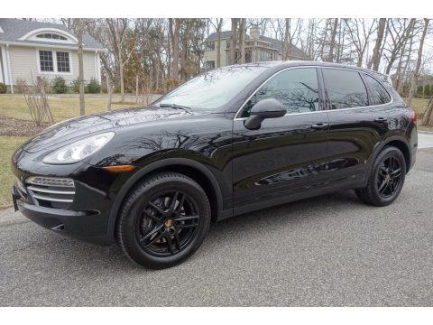 Black 2014 Porsche Cayenne Platinum Edition