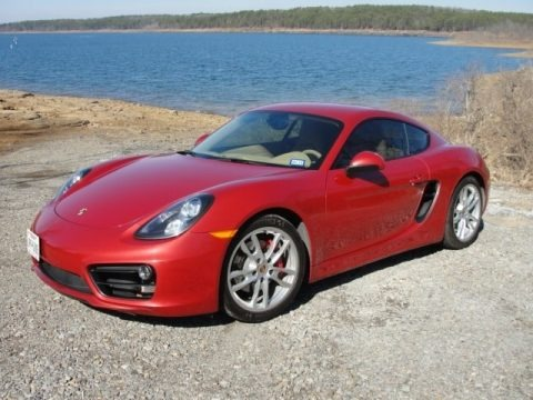 Guards Red 2014 Porsche Cayman S