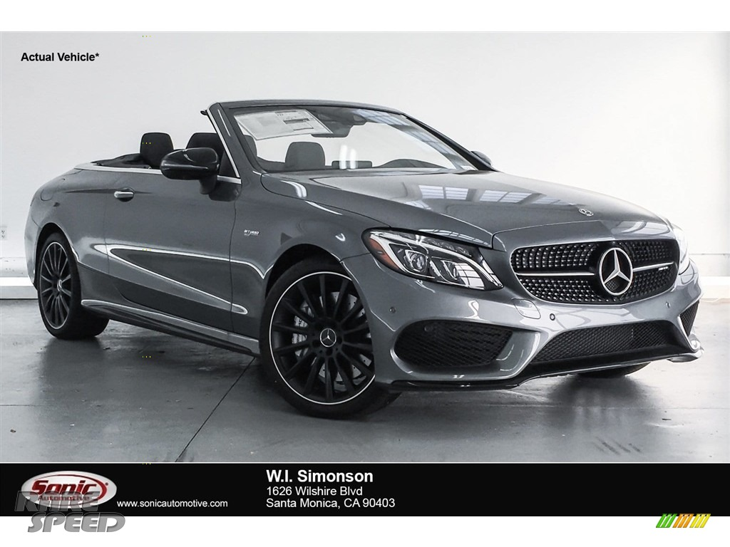 Selenite Grey Metallic / Black Mercedes-Benz C 43 AMG 4Matic Cabriolet