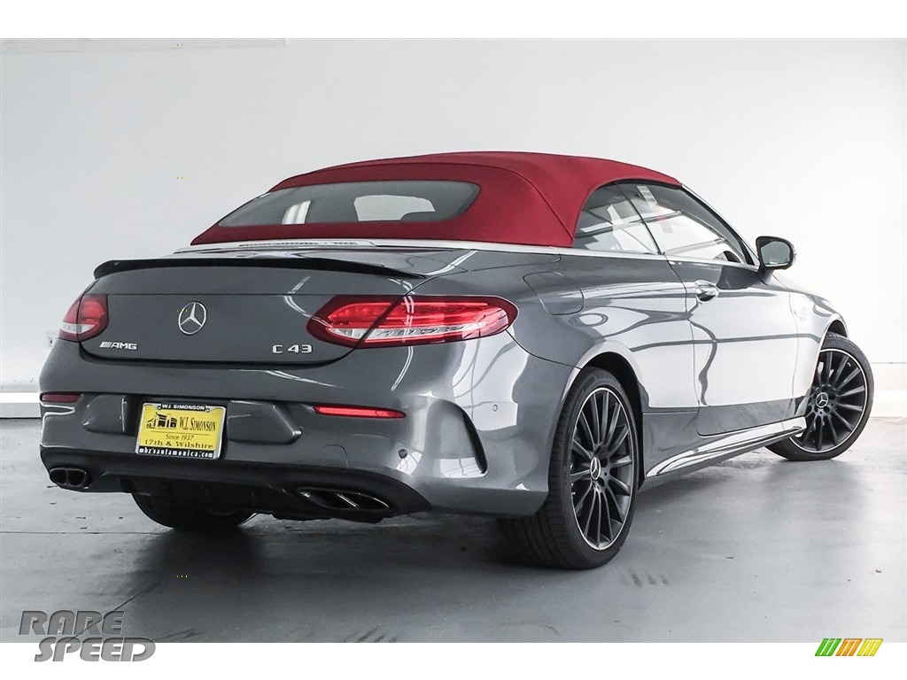 2018 C 43 AMG 4Matic Cabriolet - Selenite Grey Metallic / Black photo #16