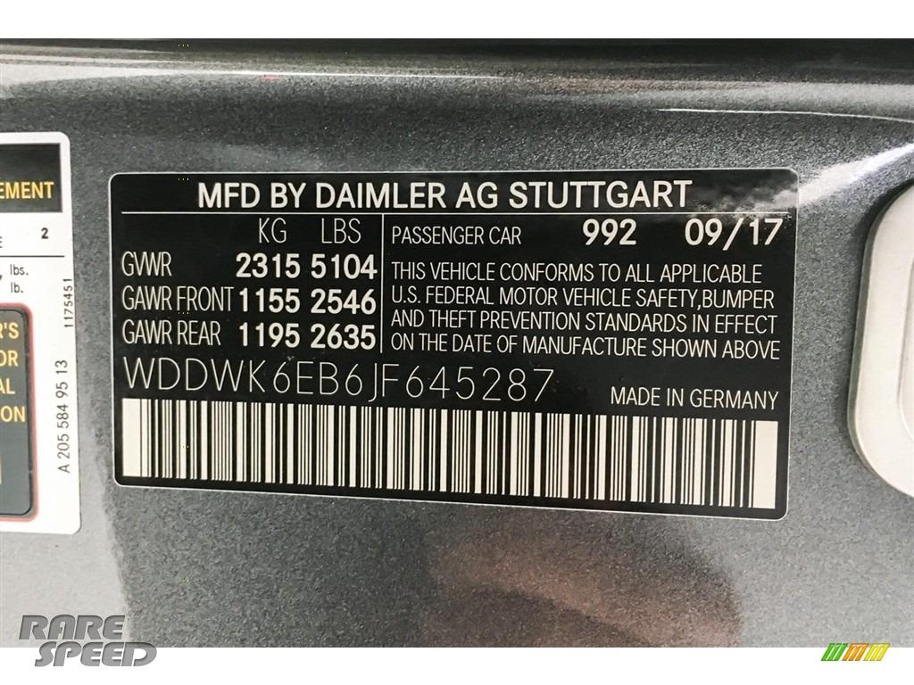 2018 C 43 AMG 4Matic Cabriolet - Selenite Grey Metallic / Black photo #23