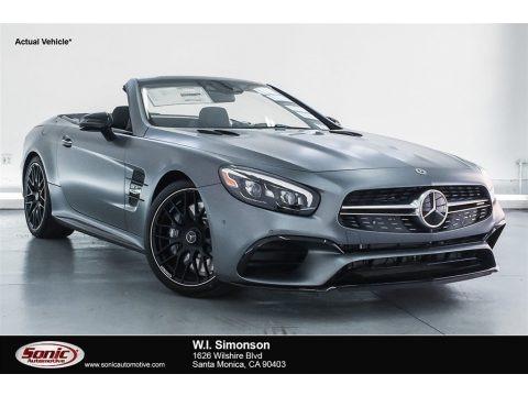 designo Selenite Grey Magno (Matte) 2018 Mercedes-Benz SL 63 AMG Roadster