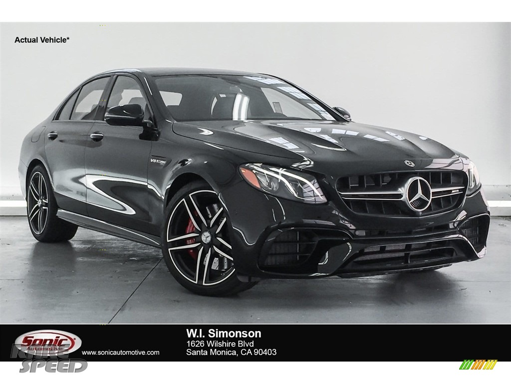 2018 E AMG 63 S 4Matic - Black / Black photo #1