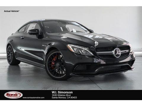 Obsidian Black Metallic 2018 Mercedes-Benz C 63 S AMG Coupe