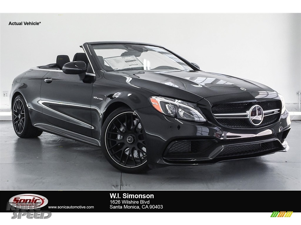 2018 C 63 AMG Cabriolet - Obsidian Black Metallic / Black photo #1