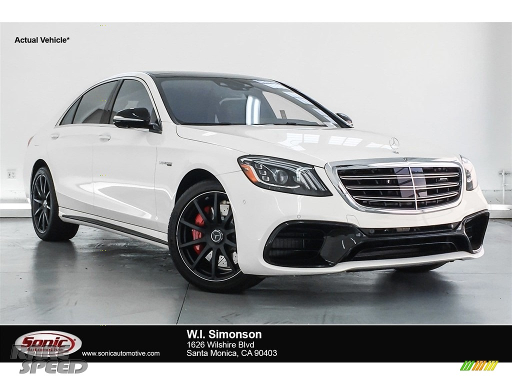 2018 S AMG 63 4Matic Sedan - designo Diamond White Metallic / Black photo #1